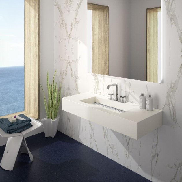 Simplicity - Silestone Wall Mounted Washbasin
