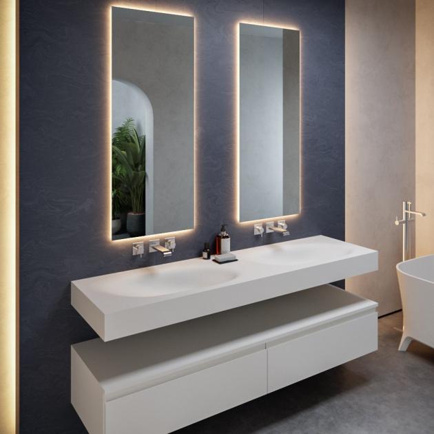 Springfield - DuPont™ Corian® Wall Mounted Double Washbasin