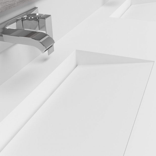 Tennessee - DuPont™ Corian® Wall Mounted Double Washbasin