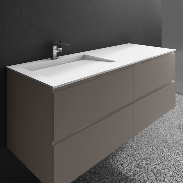 Tennessee - Wall Mounted DuPont™ Corian® Vanity Unit