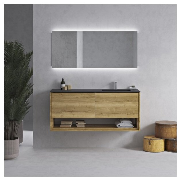 Corian® Colour Tennessee Solid Oak Carthage - Wall Mounted DuPont™ Vanity Unit