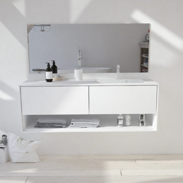 Toronto Carthage - Wall Mounted DuPont™ Corian® Vanity Unit