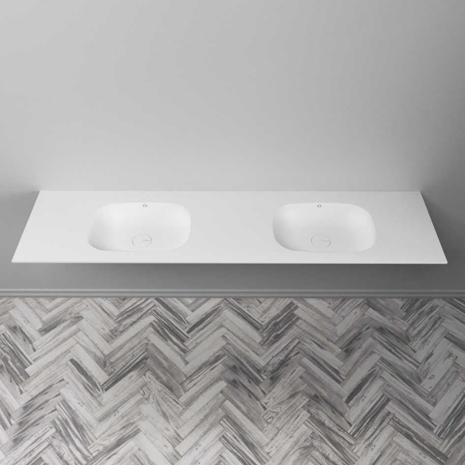 Peace Dupont Corian Double Vanity Top