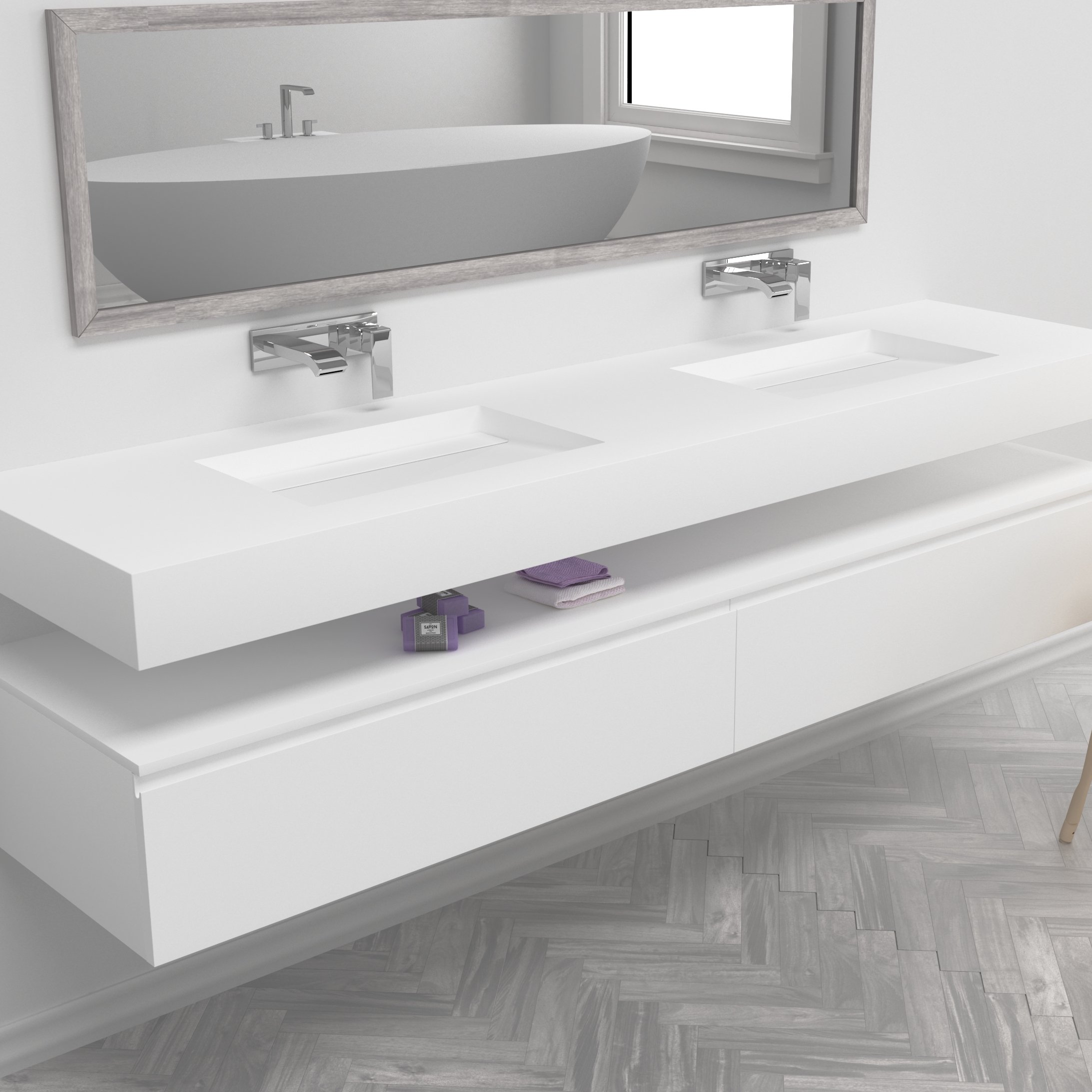 Oh, Alabama! Just what is it about this particular double Corian washbasin?