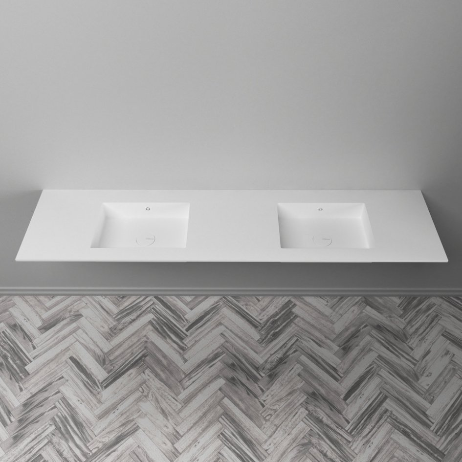 What makes Corian® the perfect powder room material for make-up artists?