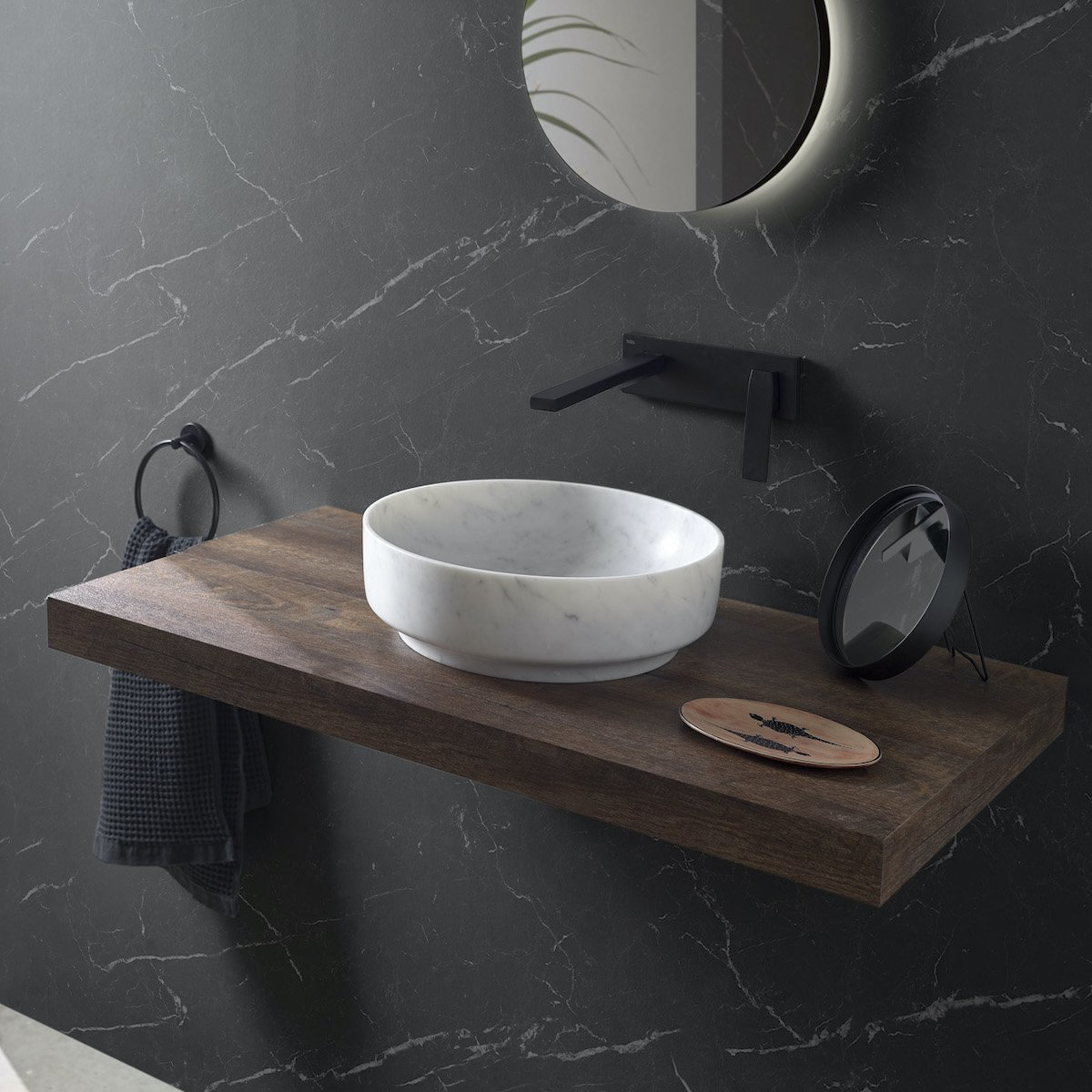 What's with all the marble in contemporary bathrooms?