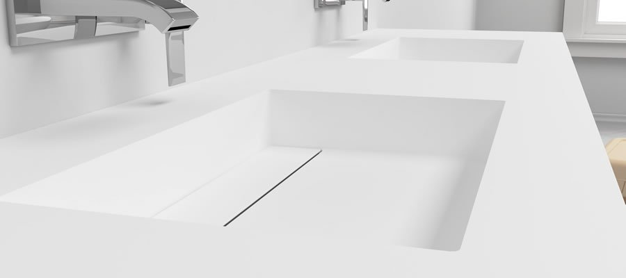 Corian basin - double sink