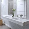 Carrara C2 - Lavabo doppio sospeso in marmo