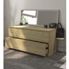 Modulo Wood - Mobiletto del bagno sospeso in Rovere Massello