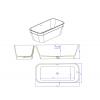Silene - Freestanding Solid Surface Bathtub 170cm