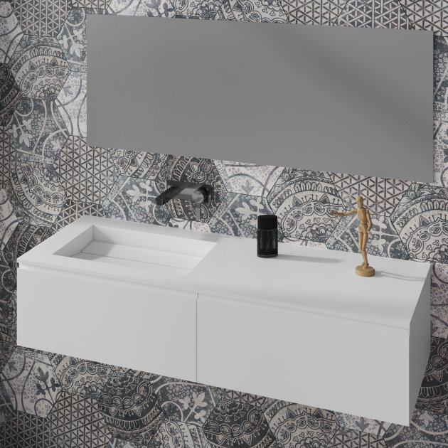 Alabama - Mobile con Lavabo in DuPont™ Corian®