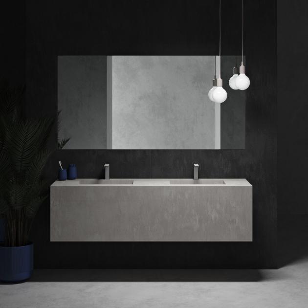 Corian® Colour Renaissance Double Basin Wall-Mounted Vanity Unit