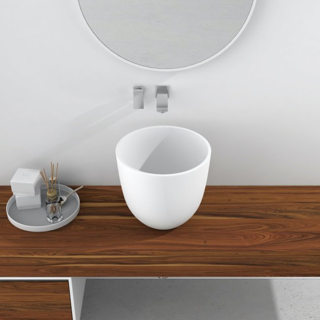 Alyssum - Solid Surface Counter Top Washbasin