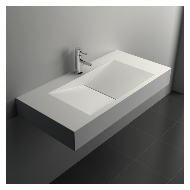 Anemone - Lavabo sospeso in Solid Surface