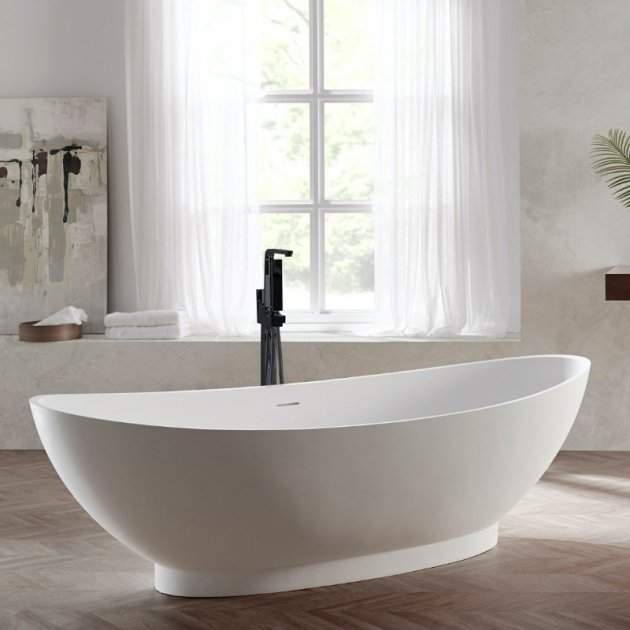 Annecy 180cm - Freestanding Solid Surface Bathtub