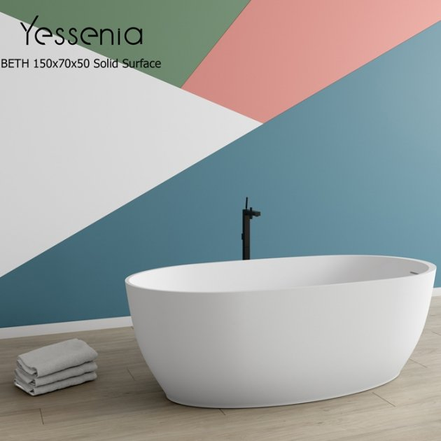 Beth - Vasca da bagno indipendente in Solid Surface