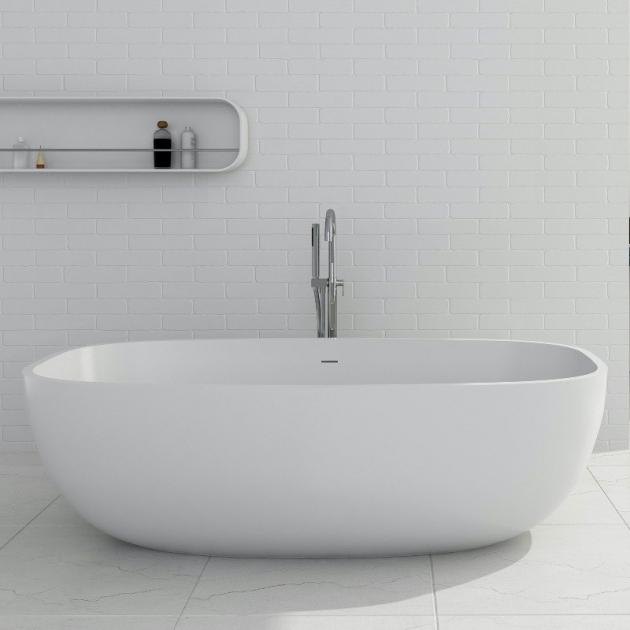 Biarritz 170cm - Vasca da bagno indipendente in Solid Surface