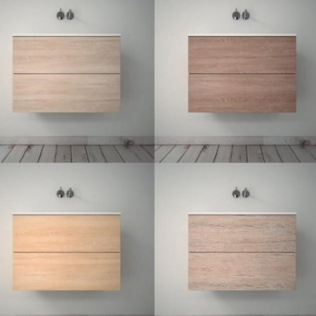 Modulo - Wall Mounted MDF Vanity Cabinet