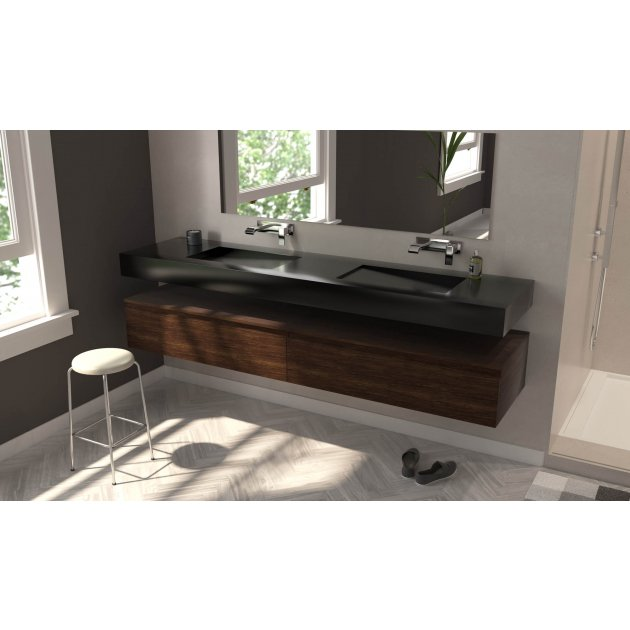 Canada - DuPont™ Corian® Wall Mounted Double Washbasin