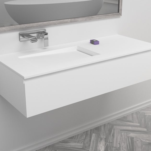 Canada - Wall Mounted DuPont™ Corian® Vanity Unit