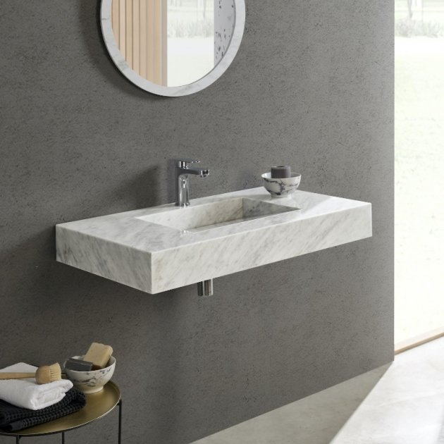 Carrara C1 - Marble Wall Mounted Washbasin