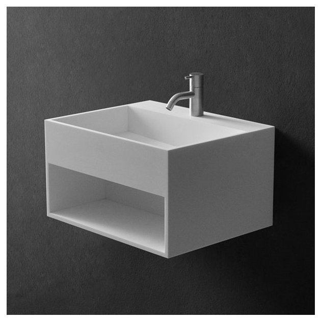 Celosia - Lavabo sospeso in Solid Surface