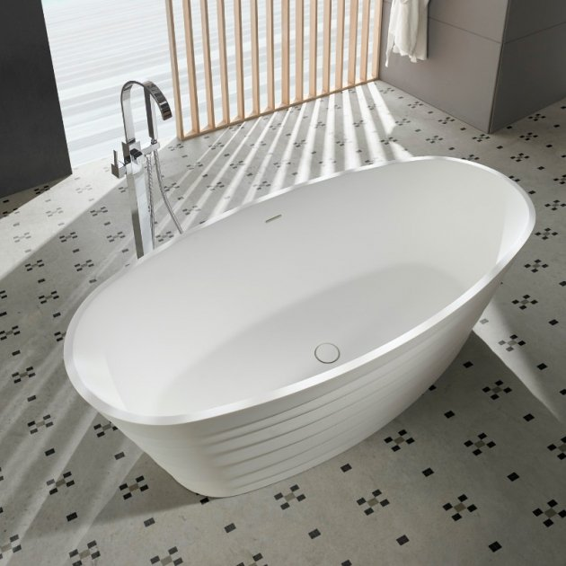Chic 180cm - Vasca da bagno indipendente in Solid Surface