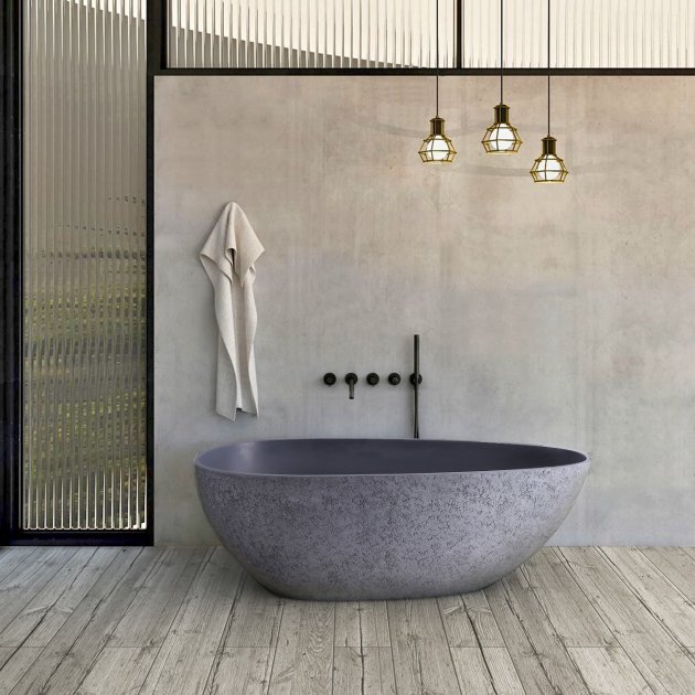 Concrete - Vasca da bagno indipendente in Solid Surface