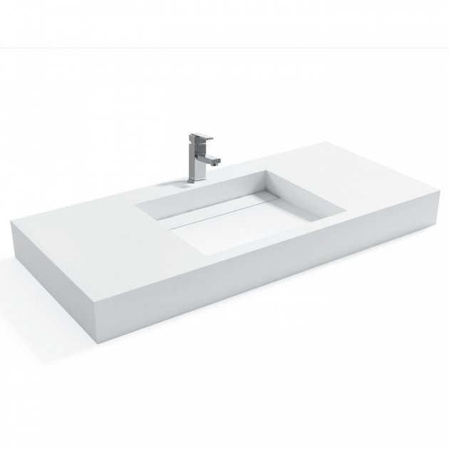 Consolea - Solid Surface Wall Mounted Washbasin