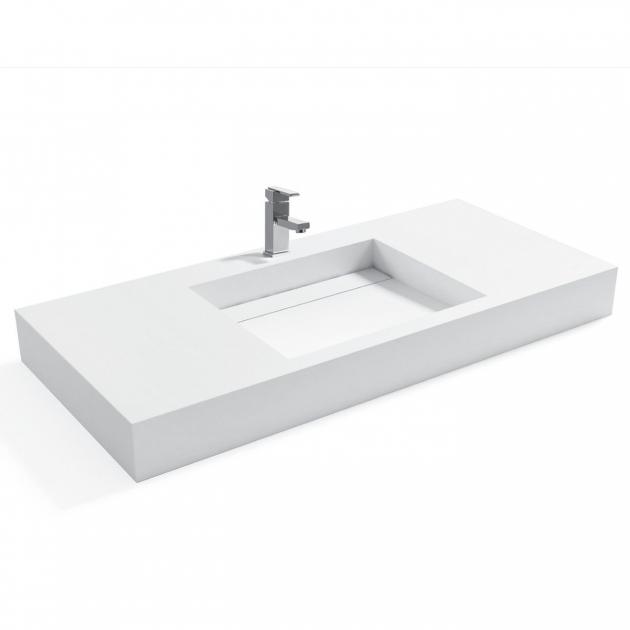 Consolea - Lavabo Sospeso in Solid Surface