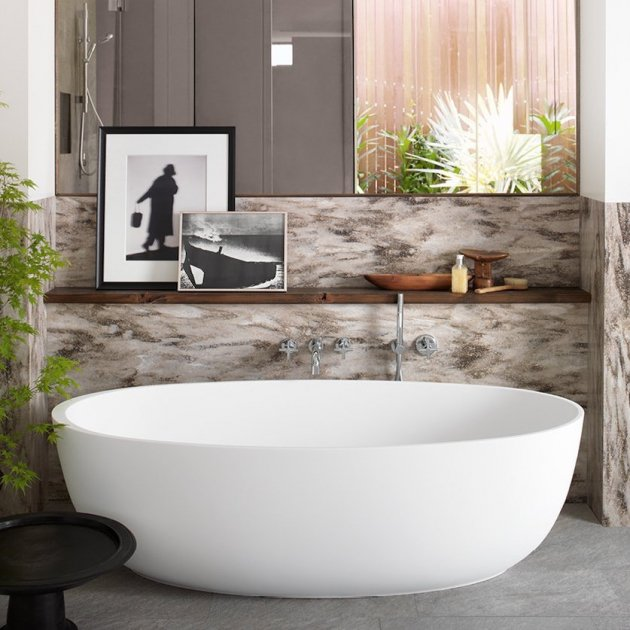 Delight 8430 - Freestanding DuPont™ Corian® Bathtub
