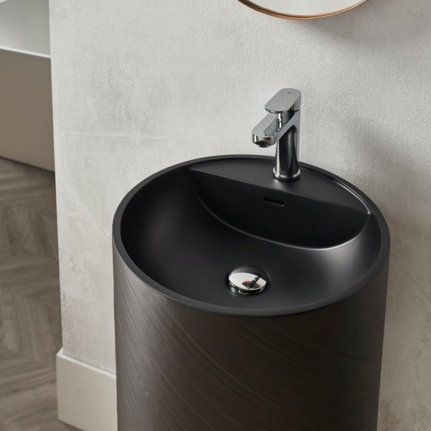 Dusk Black - Lavabo Freestanding Solid Surface