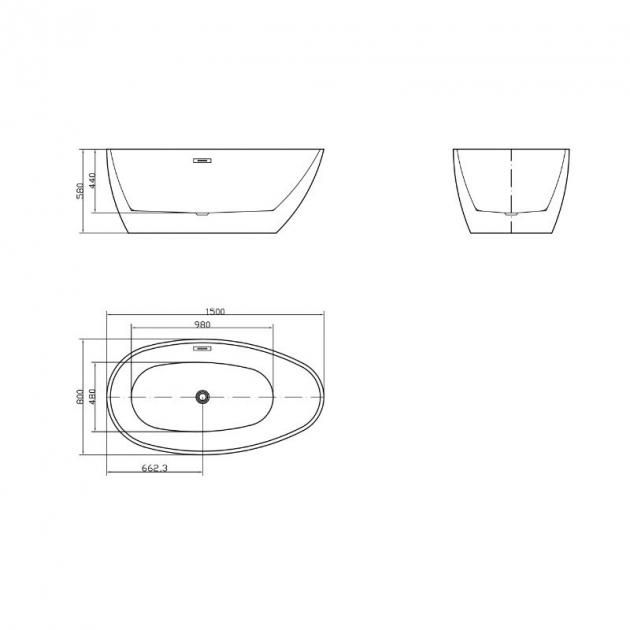EGG - Freestanding Acrylic Bathtub 150cm