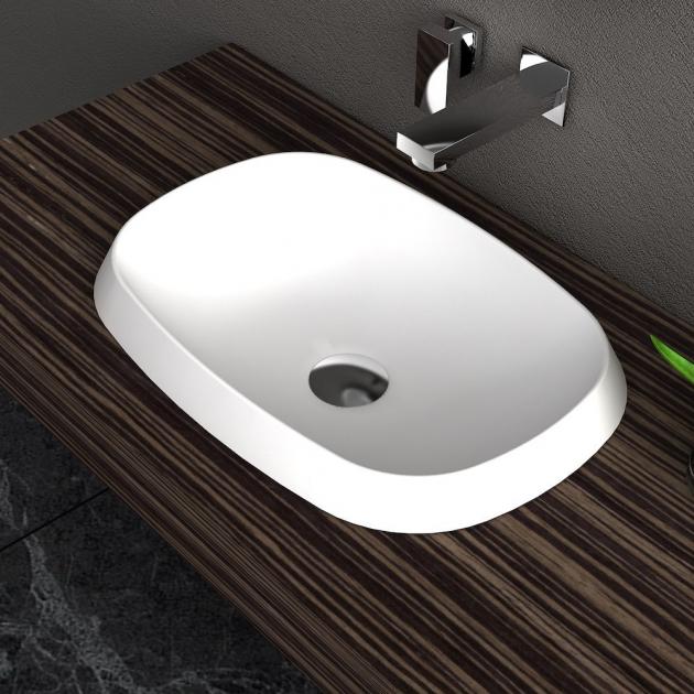 Falda Oval - Solid Surface Countertop Washbasin