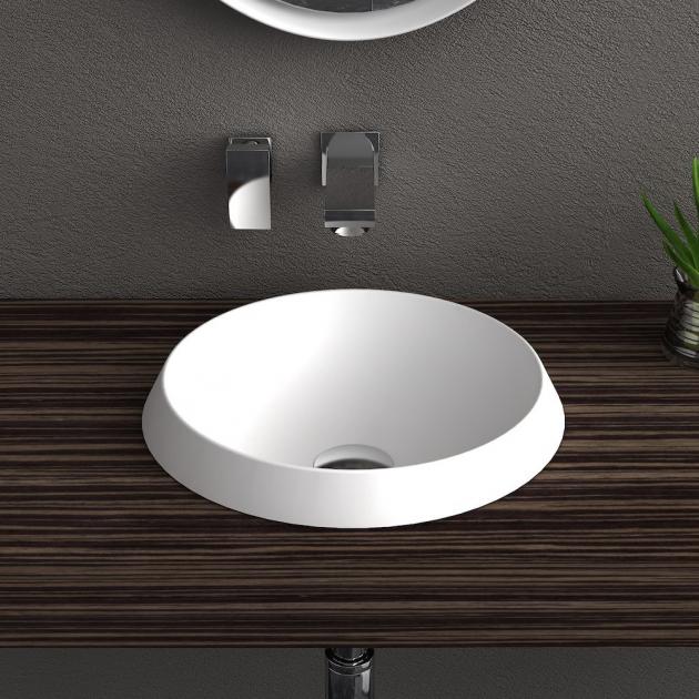 Falda Round - Lavabo soprapiano in Solid Surface