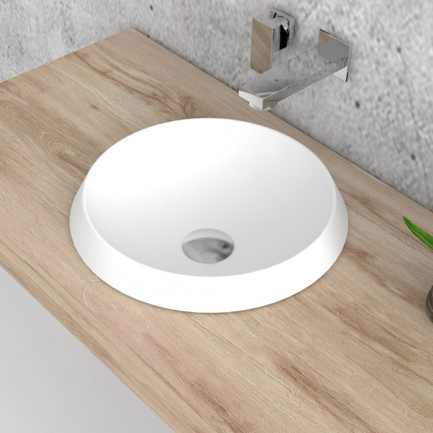 Falda Round - Solid Surface Countertop Washbasin