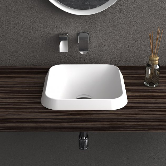 Falda Square - Solid Surface Countertop Washbasin