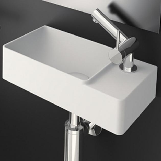 Fancy - Lavabo sospeso in Solid Surface