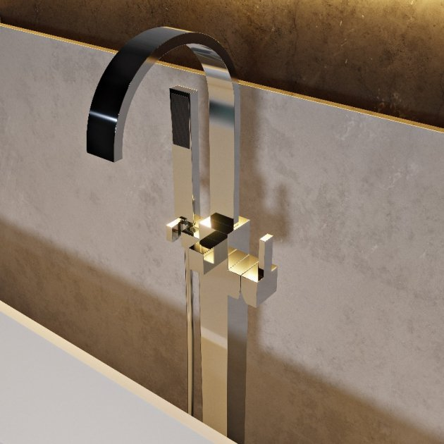 Floor Mounted Bathtub Tap - LIS-04