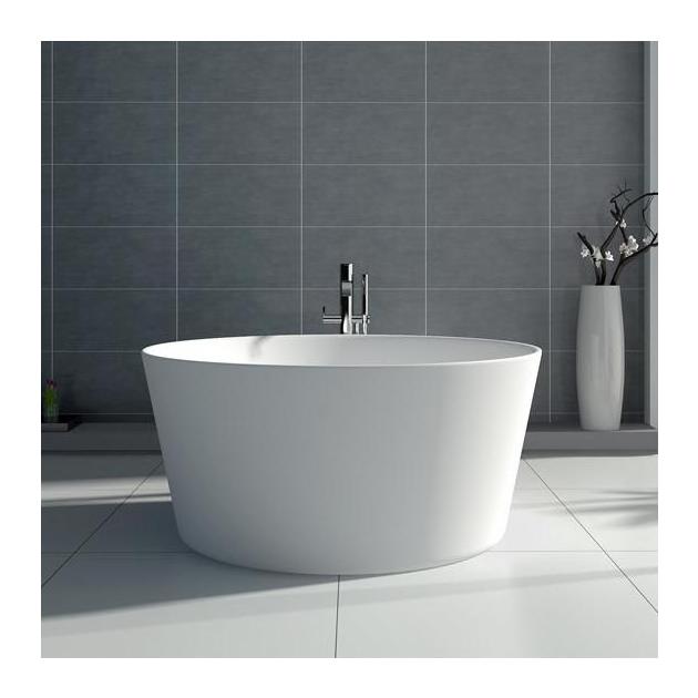 Grenoble 130cm - Vasca da bagno indipendente in Solid Surface
