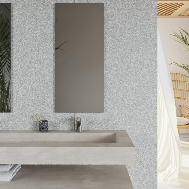 Indiana - Corian® Neutral Aggregate Wall Mounted Washbasin