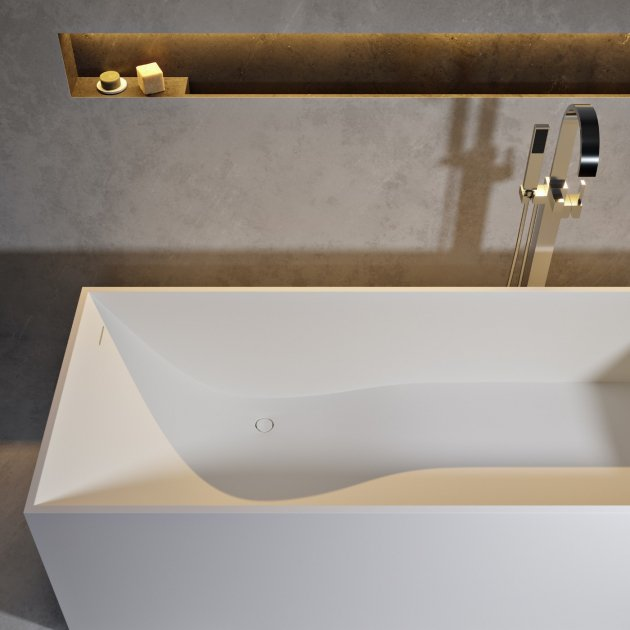 La Turbie 158cm - Vasca da bagno indipendente in Solid Surface