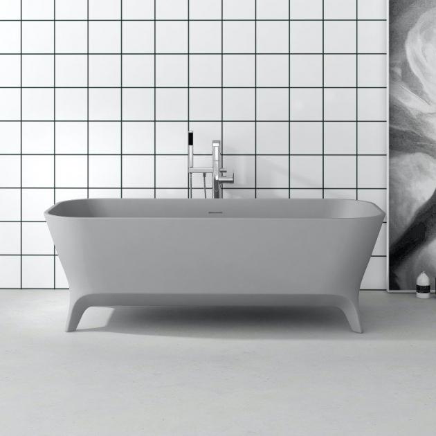 Lofty Grey 180cm - Freestanding Solid Surface Bathtub