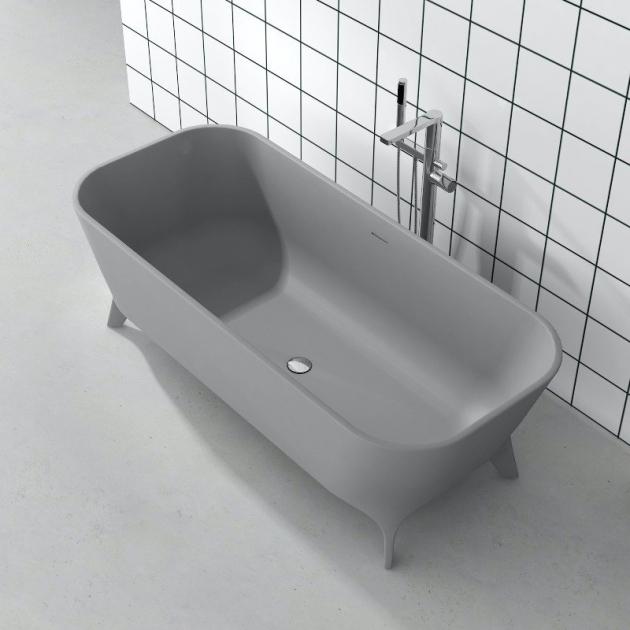 Lofty Grey 180cm - Vasca da bagno indipendente in Solid Surface