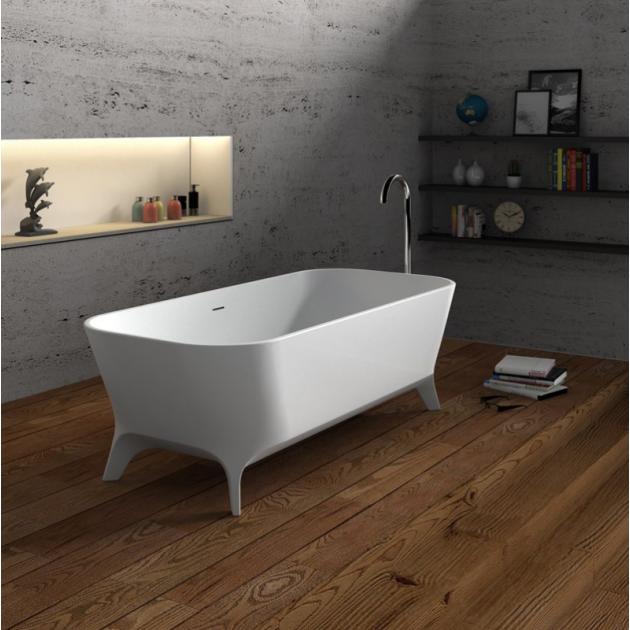 Lofty 160cm - Freestanding Solid Surface Bathtub