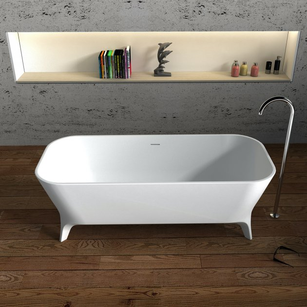 Lofty 160cm - Vasca da bagno indipendente in Solid Surface