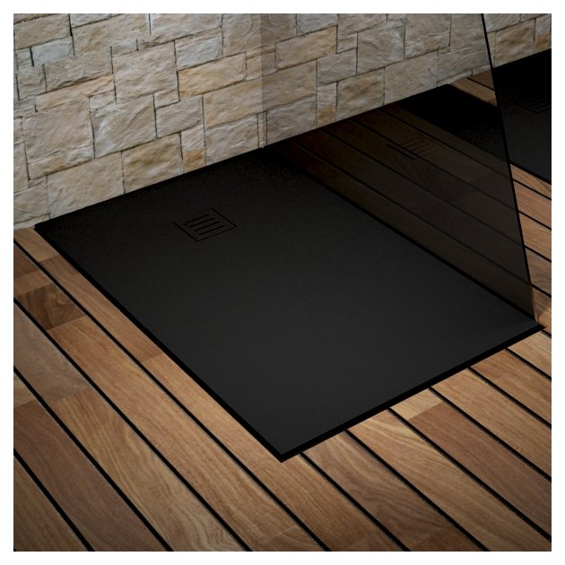 London - DuPont™ Corian® Ultra Slim Shower Tray - Black