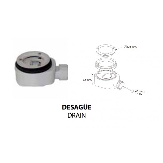 London - Piatto Doccia Ultrasottile DuPont™ Corian® 160x80