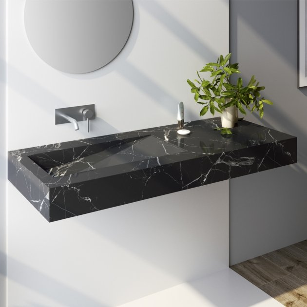 Marquina C3 - Marble Wall Mounted Washbasin