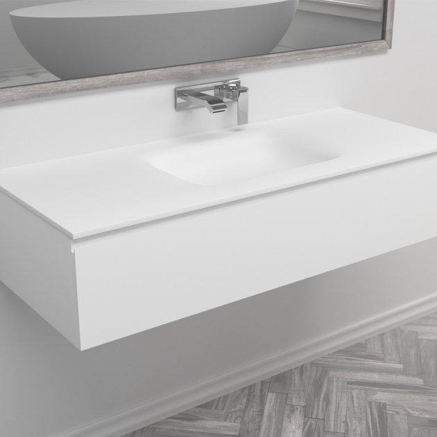 Nevada - Wall Mounted DuPont™ Corian® Vanity Unit
